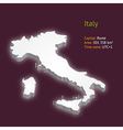 3d map of Italy vector image