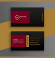 abstract dark business card modern template design vector image vector image