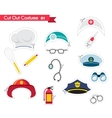 accessories for different proffestions costumes vector image vector image