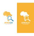 africa and loupe logo combination safari vector image