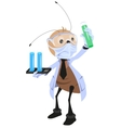 Ant scientist holding flask vector image