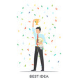 best idea triumph on white vector image