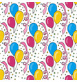 birthday pattern with colorful balloons seamless vector image