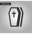 black and white style icon halloween coffin vector image