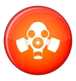 Black gas mask icon flat style vector image