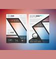 brochure template flyer design or depliant cover vector image vector image
