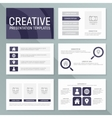 business presentation template set vector image vector image