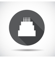 Cake Flat Icon with long Shadow vector image vector image