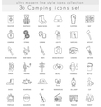 camping ultra modern outline line icons vector image vector image