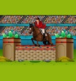 equestrian in the competition vector image vector image