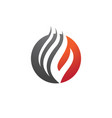 fire flame logo template icon oil gas and energy