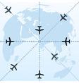 flight routes vector image vector image