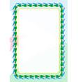 frame and border of ribbon with djibouti flag vector image vector image