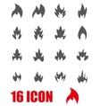 grey file icon set vector image
