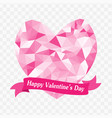 happy valentines day abstract geometric polygon vector image
