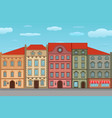 houses old european city street with colored vector image vector image