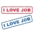 I Love Job Rubber Stamps vector image vector image
