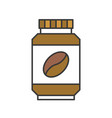 instant coffee or coffee bottle icon flat design vector image vector image