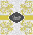 Invitation vintage card with floral ornament with vector image