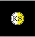 k s letter logo icon design vector image vector image