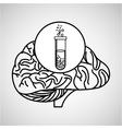 laboratory brain school knowledge vector image vector image