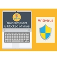 Laptop infected with a virus computer and vector image vector image
