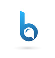 Letter B speech bubble logo icon design template vector image vector image