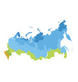 map of russia administrative division vector image