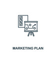 marketing plan icon thin line style symbol from vector image vector image