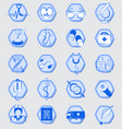 medical signs and icons vector image