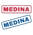 Medina Rubber Stamps vector image vector image