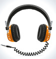 Old Headphones vector image vector image