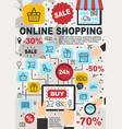online shopping and web store sale poster vector image vector image