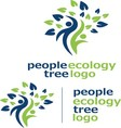 people ecology tree logo 3 vector image vector image