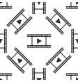 play video seamless pattern on white background vector image vector image