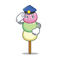 police dango character cartoon style vector image vector image