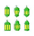 ramadan lantern set for your designs hand drawn vector image