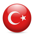 Round glossy icon of turkey vector image vector image