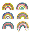 set isolated colorful rainbows part 2 vector image vector image