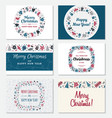set of christmas greeting card vector image