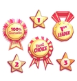 set of colored brightly badges vector image vector image