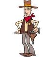 sheriff cowboy cartoon vector image
