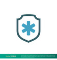 shield and cross medical healthcare icon logo vector image vector image