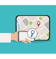 Smartphone and gps map design vector image vector image