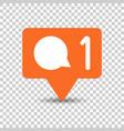 social media notification sign icon in vector image vector image