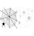 spiders and cobweb on a white background vector image