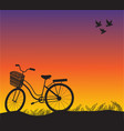 sport bike vintage sunset and vector image