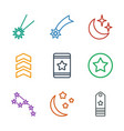 stars icons vector image vector image