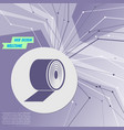 toilet paper icon on purple abstract modern vector image
