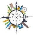 Travel clock vector image vector image